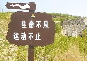 """中站区在此规划建设了一条""""焦作南太行国家登山健身步道"""""""