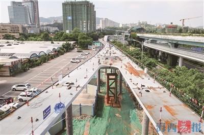 厦门人字形桥梁桥已现雏形 计划10月中旬完工