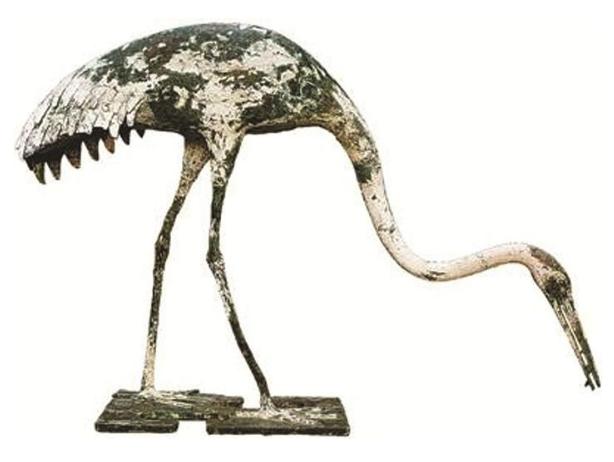 青铜仙鹤融入精湛铸造技艺 被选入国家宝藏