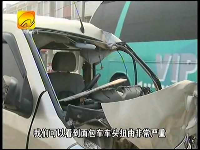 面包车与货车猛撞司机身亡 事发307省道丰州段